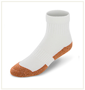 Ankle High White Copper Cloud Socks